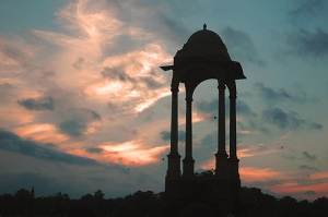 Sunrise at India gate