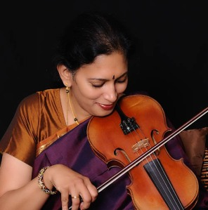 Anuradha on Violin