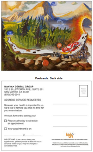 kids and art dental card