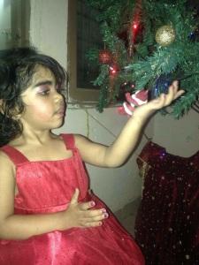 Ari with tree